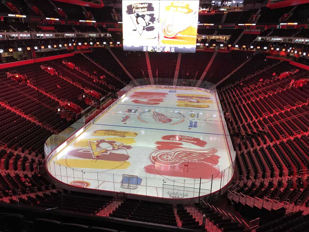 Little Caesars Arena View From Mezzanine M19a Vivid Seats